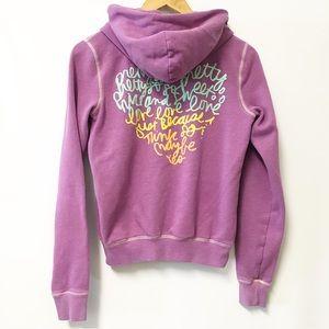PINK VS full zip hoodie sweatshirt jacket Small